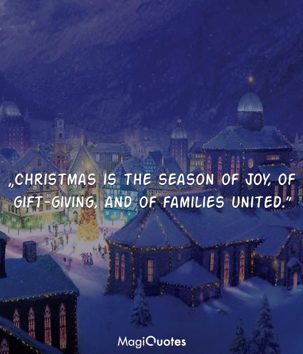 Christmas is the season of joy