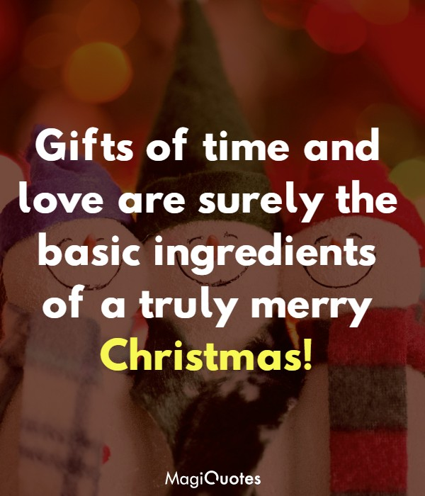 Gifts of time and love