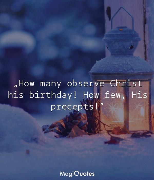 How many observe Christ s birthday