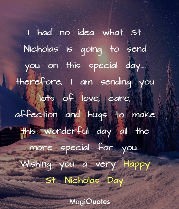 Wishing you a very Happy St. Nicholas Day