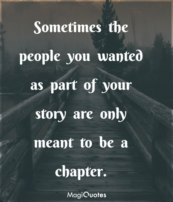 Sometimes the people you wanted