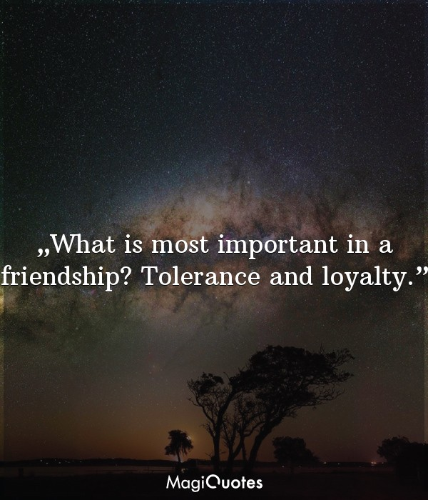 What is most important in a friendship