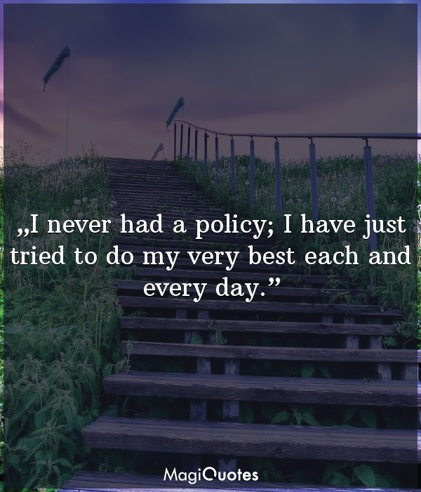 I never had a policy