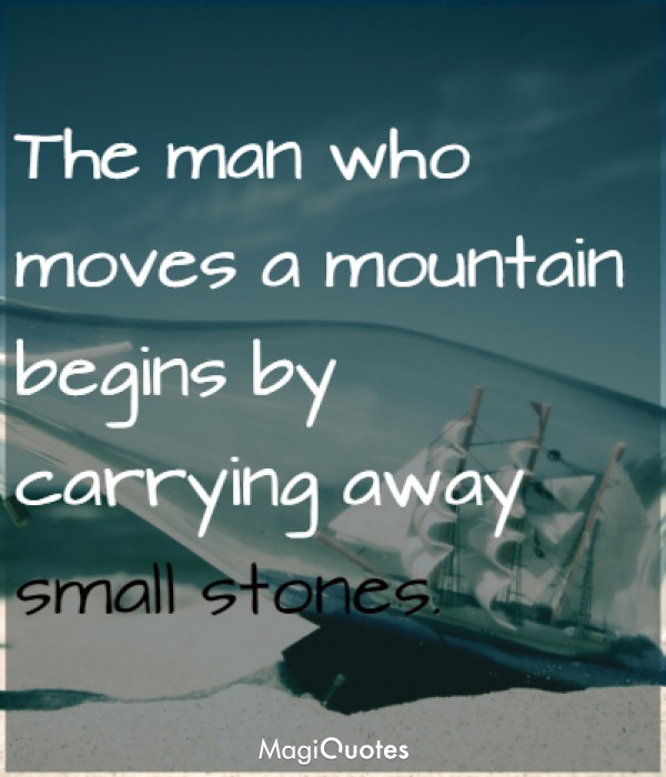 The man who moves a mountain