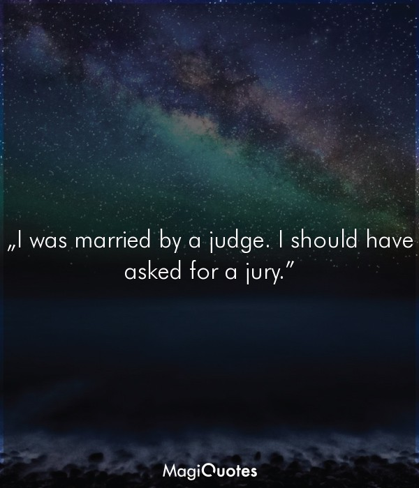 I was married by a judge