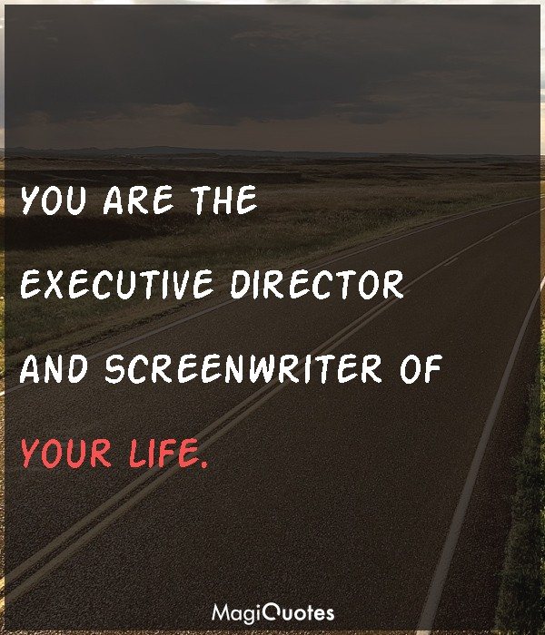 You are the executive director