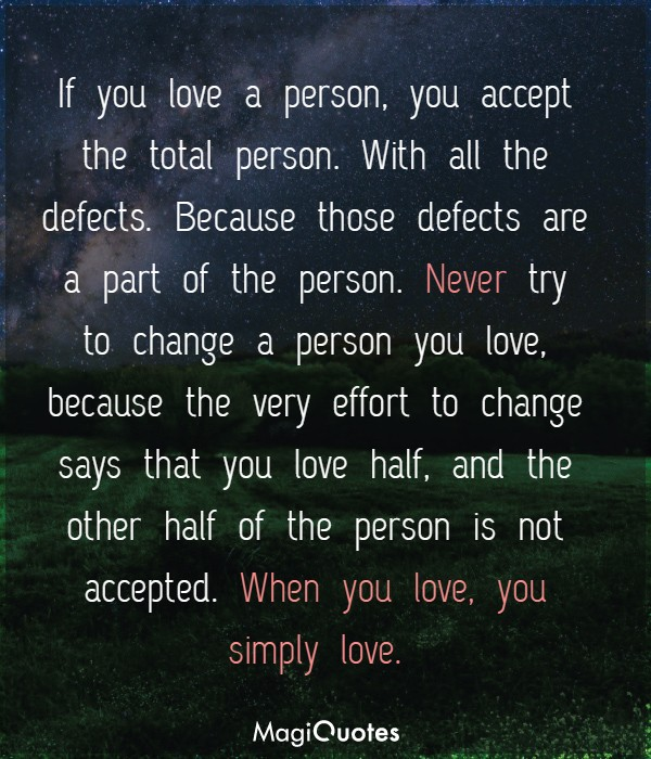 When you love, you simply love
