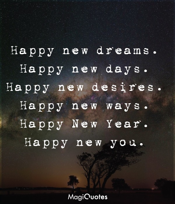 Happy new dreams