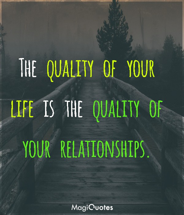 The quality of your life