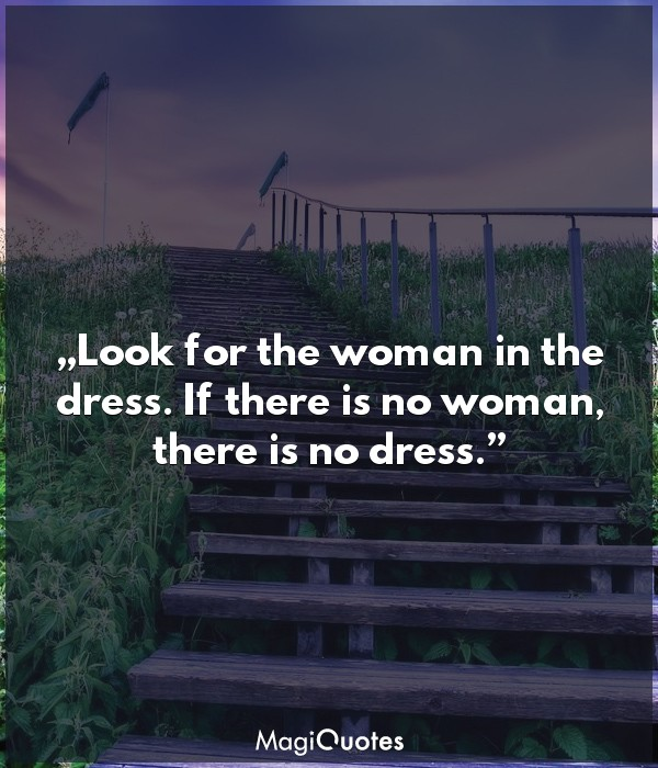 Look for the woman in the dress