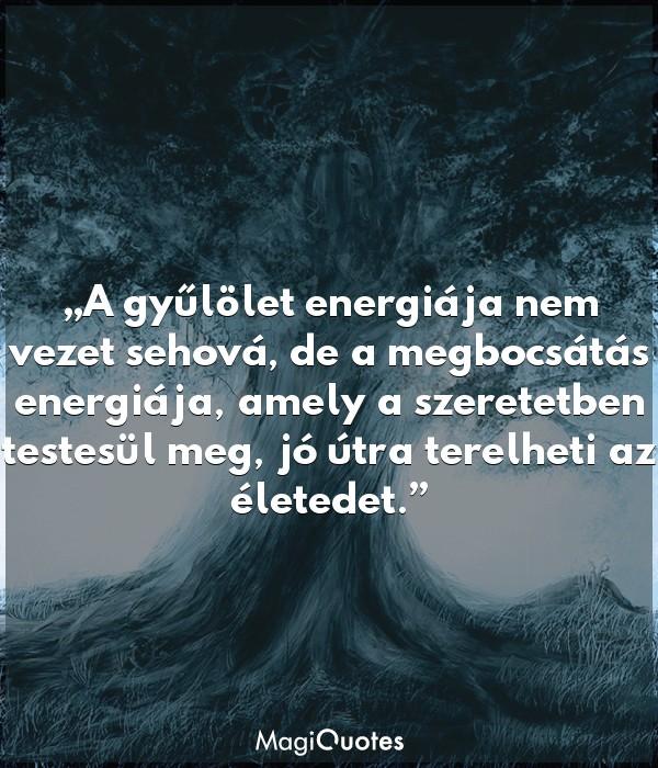 A gyűlölet energiája nem vezet sehová