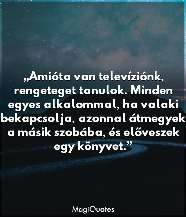 Amióta van televíziónk