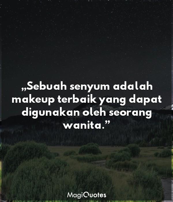 Sebuah senyum adalah makeup
