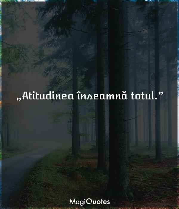Atitudinea înseamnă totul