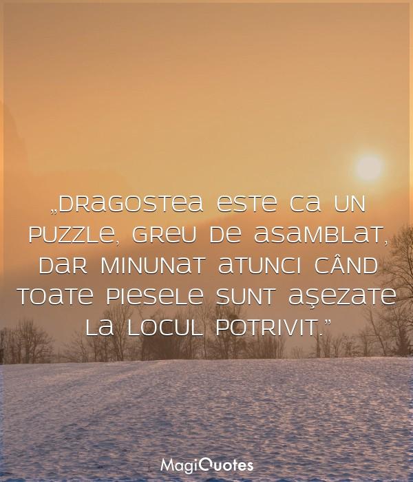 Dragostea este ca un puzzle