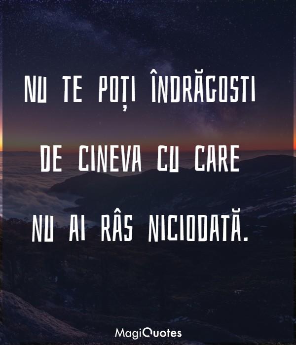 Nu te poți îndrăgosti