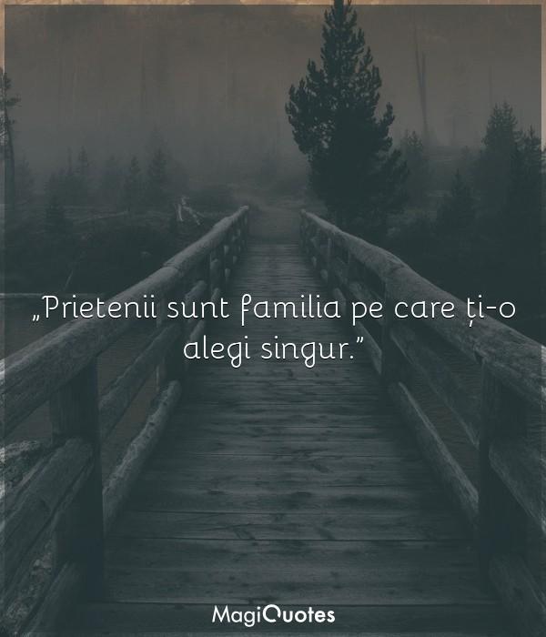 Prietenii sunt familia pe care ți-o alegi singur