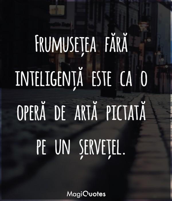 Frumusețea fără inteligență