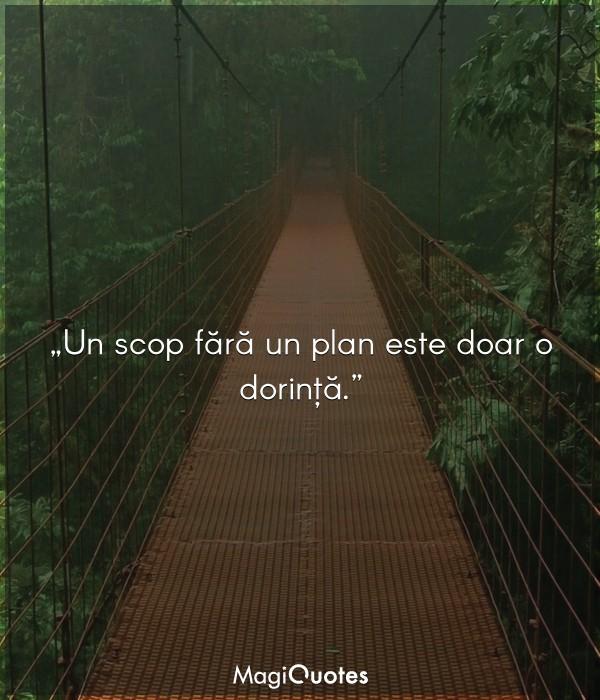 Un scop fără un plan este doar o dorință