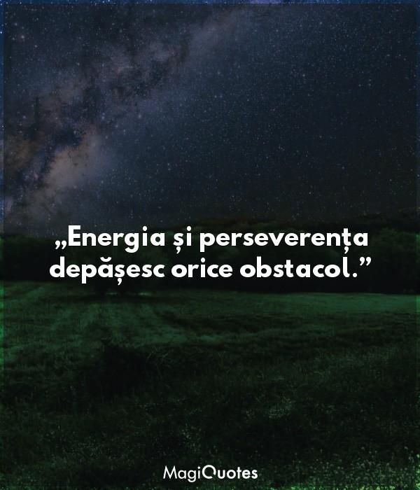 Energia și perseverența depășesc orice obstacol