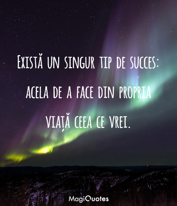 Există un singur tip de succes