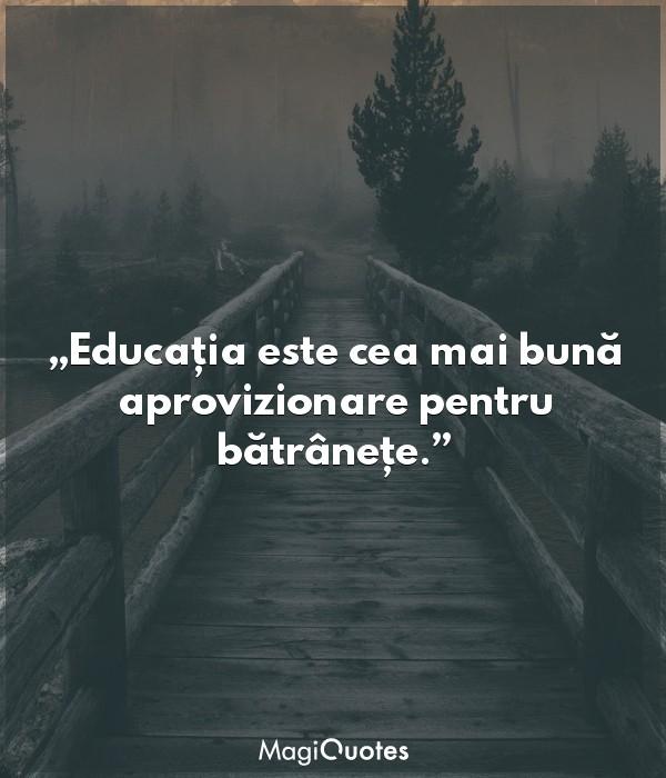Educația este cea mai bună aprovizionare